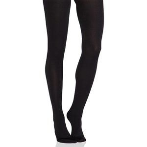 NEW Plush Full Foot Fleece Lined Tights in Black M
